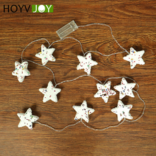 HOYVJOY DIY LED Star Christmas Pendants Ornaments For Xmas Tree Wedding Party Decorations Kids Gift