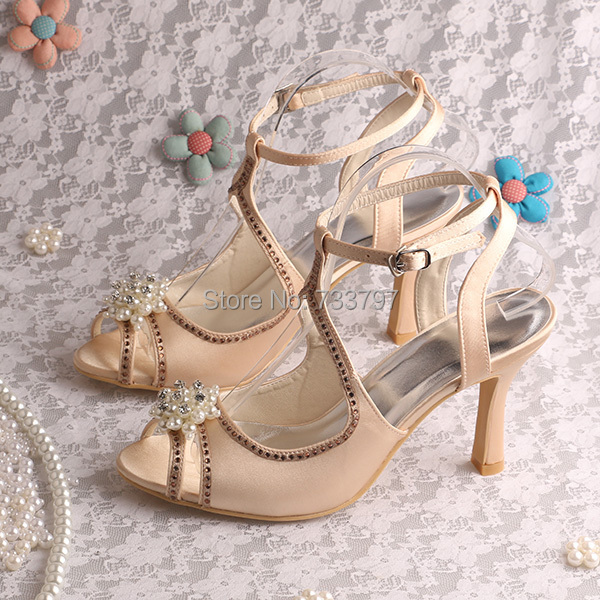 (20 Colors)Gladiator Sandals Dress Shoes For Women Pearl Wedding Sandals Dropship