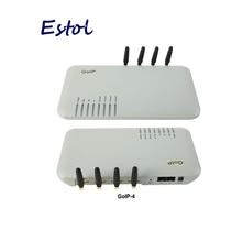 DBL GoIP 4 порта gsm voip шлюз/Voip sip шлюз/GoIP4 ip gsm шлюз поддержка SIP/H.323/IMEI сменный