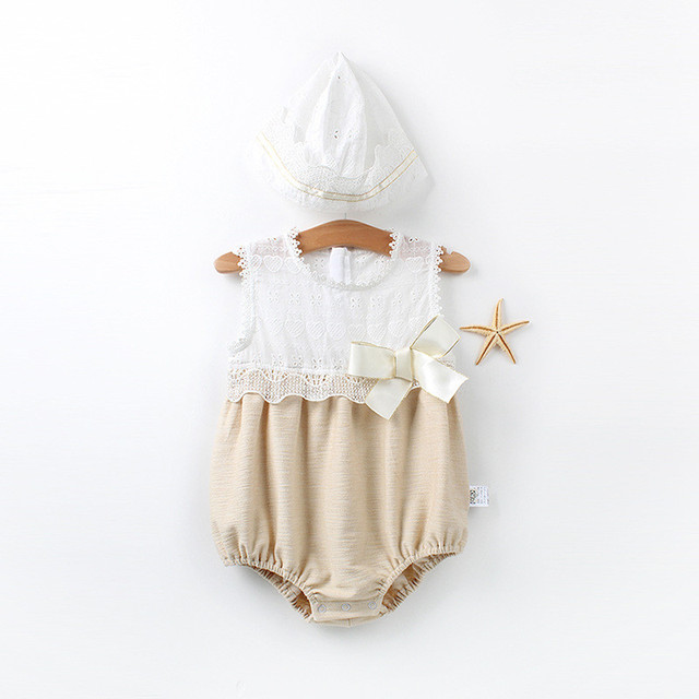9b4f482972e summer new baby girls jumpsuit toddler newborn baby rompers lace baby  Overalls cotton pajamas Princess Kids Clothes 0 to 24m