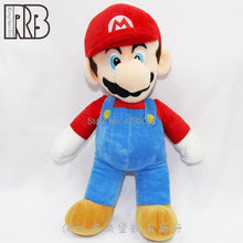 Super Mario Bros. Merah Mario Boneka Plush Boneka Moive TV Permainan Anime Plush Toy 9 Inch(China)