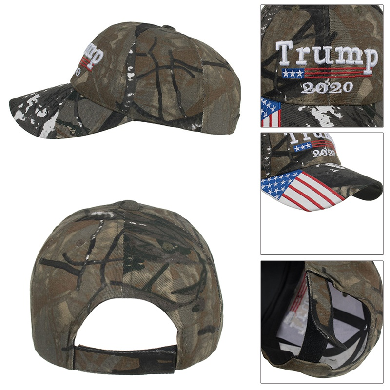 New Trump 2020 Cap Camouflage Usa Flag Baseball Caps Keep America Great Snapback Hat Embroidery Star Letter Camo Army Cap