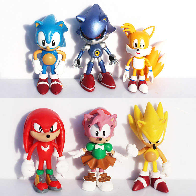 6Pcs Hoge Kwaliteit X Sega Sonic The Hedgehog Collection Action Figure Model 2.5 Inch 6Cm Speelgoed Pvc Speelgoed tekens Brinquedos Pop
