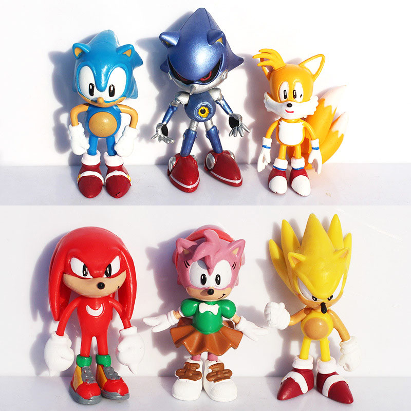 Sonic The Hedgehog Action Figure Classic Model Kids Toys Computer Character New