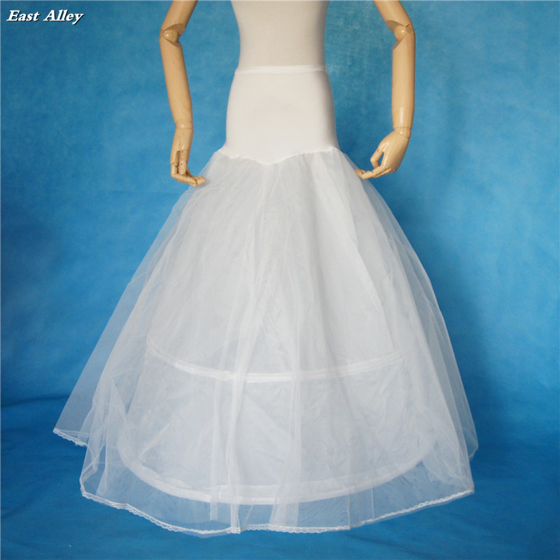New 2 Hoop 2 Layer Lace Edge A line Lycra Wedding Gown Petticoat ...