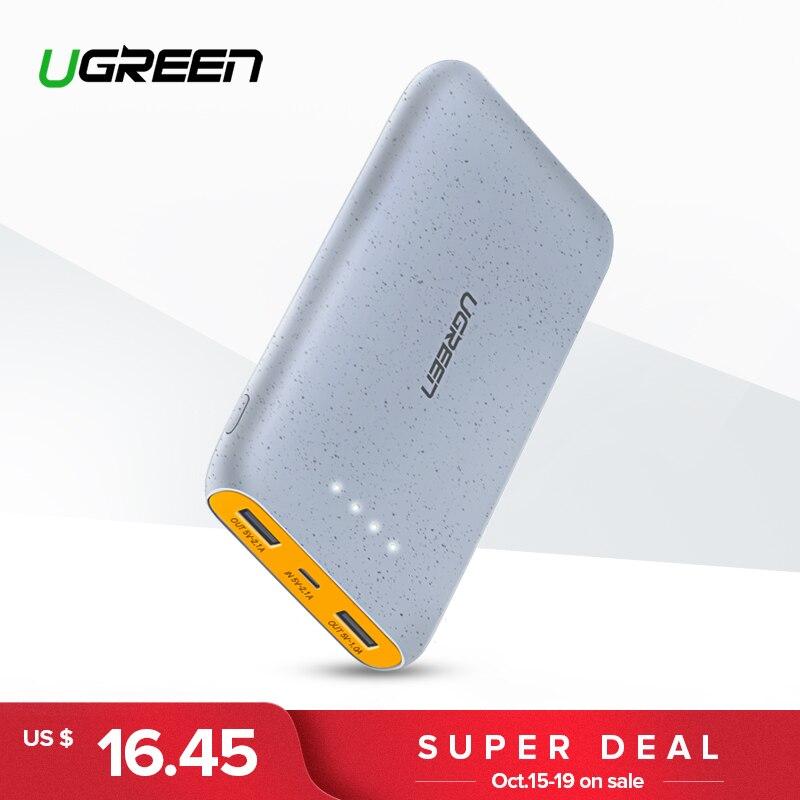 Banco Do Poder 10000 mah para o iphone X 8 Ugreen Carregador Portátil de Bateria Externa para Telefones Celulares Xiao mi mi 7 huawei P20 Pro Powerbank