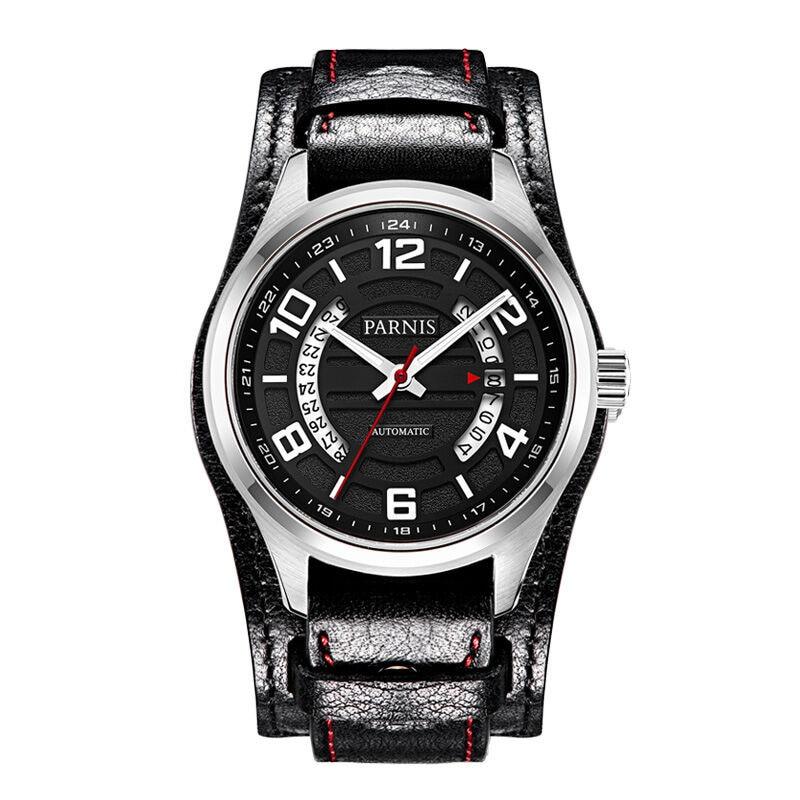 Parnis Pilot IV Seriers Mens Leather Watchband Fashion Business Automatic Mechanical Watch Wristwatch византийская армия iv xiiвв