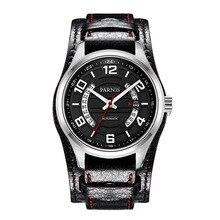 Парнис Пилот IV Seriers Мужские Кожаный Ремешок Бизнес Моды Автоматические Механические Часы Наручные Часы