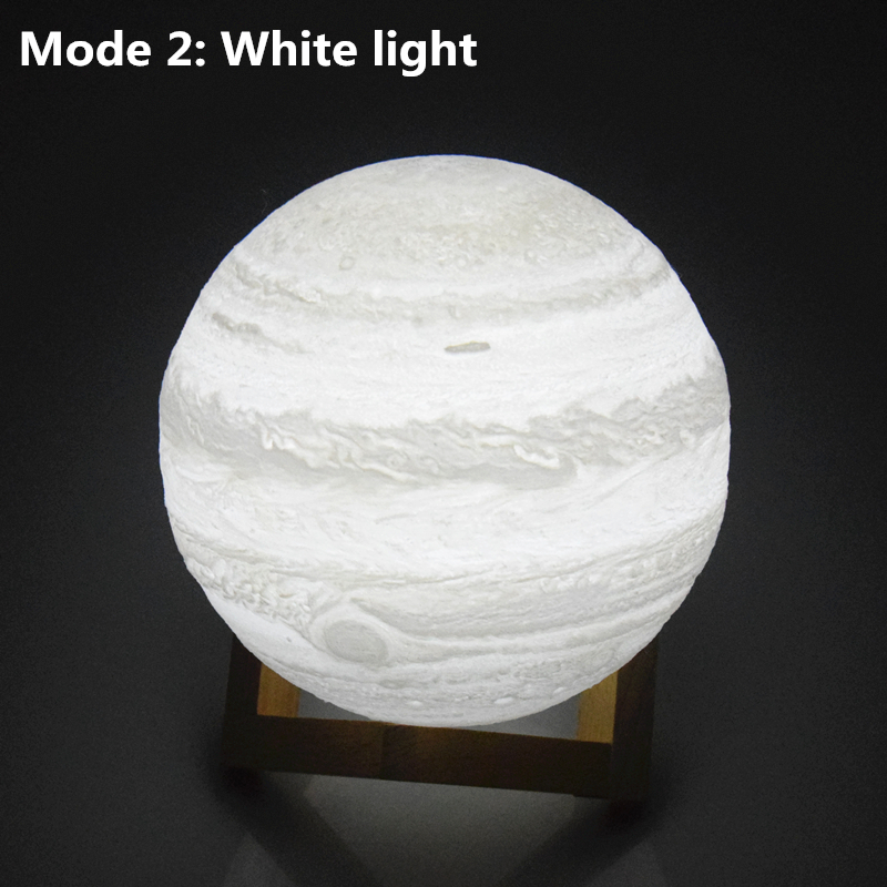 AIFENG 3D Printed Jupiter Lights moon light novelty light Built-in Rechargeable battery Touch dimming 3d lamp decorative lamp
