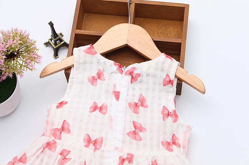 2016 Super Deal Summer Cotton Baby Dress Princess Dress Puff Sleeveless Cute Fashionable Baby Infant Dress 0-2 Years 7