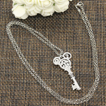 New Fashion Tibetan Silver Color Pendant Vintage Mouse Key Choker Charm Short Long DIY Necklace Factory Price Handmade Jewelry 1
