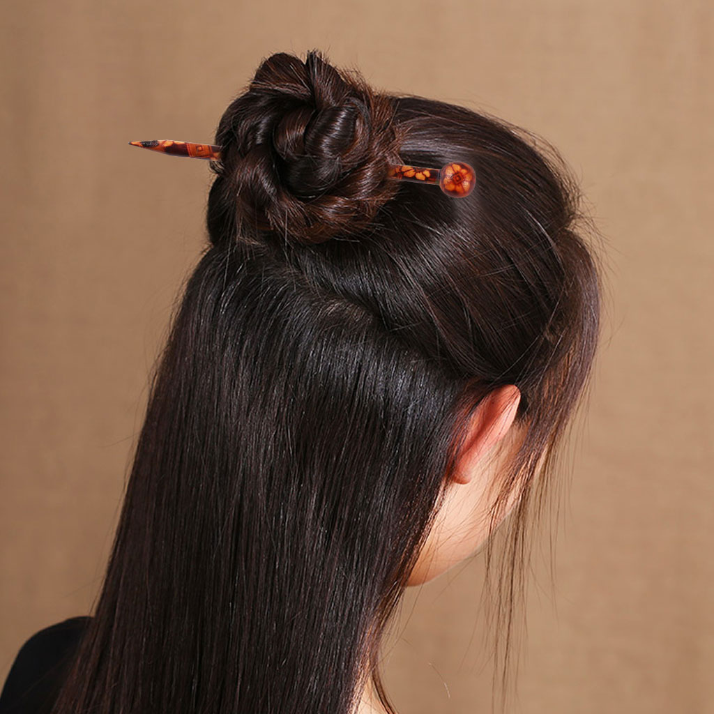 Simple Women Girls Wooden Hair Stick Pick Shawl Pin for Wedding Party Prom