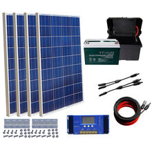 400W off Grid System 4pcs 100W Solar Panel Power Charge 12V Boat RV Power Home
