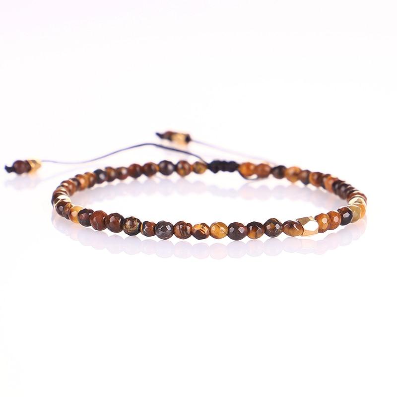 Fait à la main 3mm pierre naturelle Lapis lazuli rouge perles d'oeil de tigre Bracelets pour hommes femmes YOGA Reiki pierres de prière bijoux Super minces