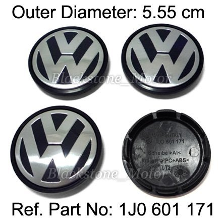 4 PCS VW LOGO WHEEL CENTER HUB CAP FOR Volkswagen Jetta Golf New Beetle Mk4 Replace VW 1J0 601 171 FREE SHIPPING 5.55cm