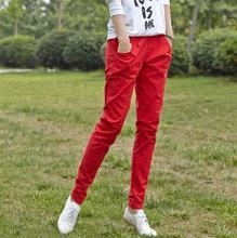 New women harem pants female candy color cotton linen pants capris Plus size s488