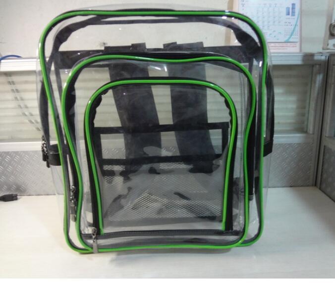 Transparent Clear Plastic Waterproof Backpack for Teenage Girls PVC School Bags Shoulders Bag