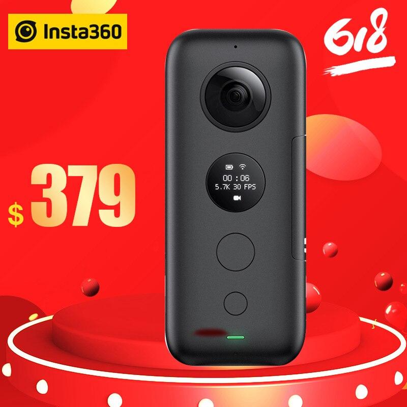 Insta360 One X caméra d'action VR 360 caméra panoramique pour iPhone x xs Android 5.7 K vidéo 18MP Invisible Selfie Stick Insta 360