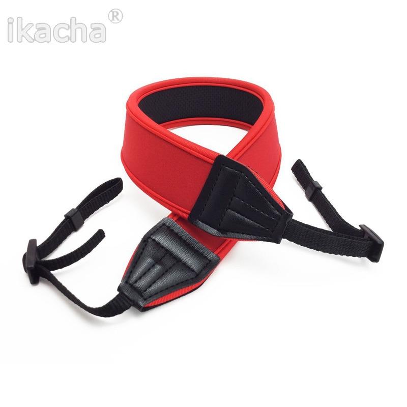 New Red Neoprene Camera Shoulder Neck Strap Belt For Canon