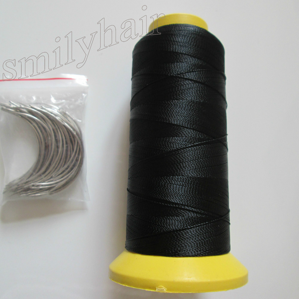 Free-shipping-50pcs-6-5cm-length-C-type-weaving-needles-Curved-needles-and-1-roll-Spools