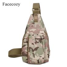 Facecozy Men Women Running Chest Bag Single Shoulder Bags 10L Outdoor Sports Backpacks Tactical Camouflage Small Crossbody Packs