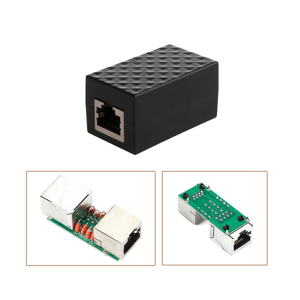 High Quality  Adapter RJ45 LAN Adapter Ethernet Network Protect Device Arrester Surge Protector L104#3