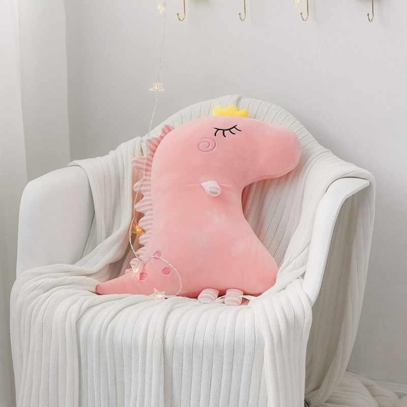 Bonito do Dinossauro Dinossauro de Brinquedo Macio da Boneca de Pelúcia Macia Travesseiro Do Bebê Crianças Brinquedo de Presente de Aniversário de Natal Para Crianças Meninas