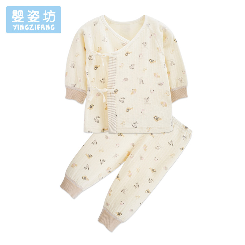 Newborn Clothes Autumn Girls Boys Baby Clothing Sets Lovely Printing Suits Sleepwear Long Sleeve Newborn Set Infant Costume mother nest 3sets lot wholesale autumn toddle girl long sleeve baby clothing one piece boys baby pajamas infant clothes rompers