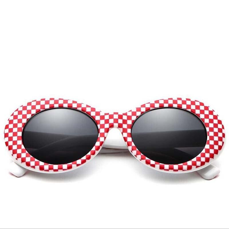Women Clout Goggles Glasses Men Fashion Sunglasses Female Male Oval Sun Glasses Black White Red Eyewear UV400