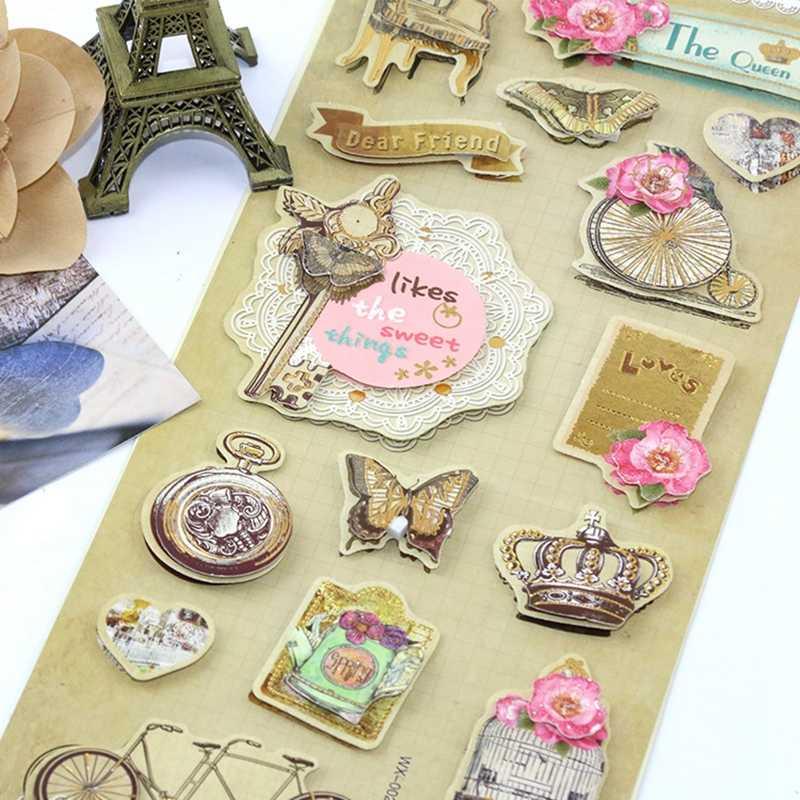 Ретро 3D наклейка s милые аниме Мультяшные Kawaii наклейка с мобильным телефоном книга Ablum label дневник в стиле скрапбукинг украшения наклейки для спальни