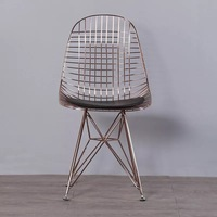 Бесплатная доставка U BEST Гарри Bertoia, реплики Золотой стали стороне провода стул с сиденья, европейский стиль стул