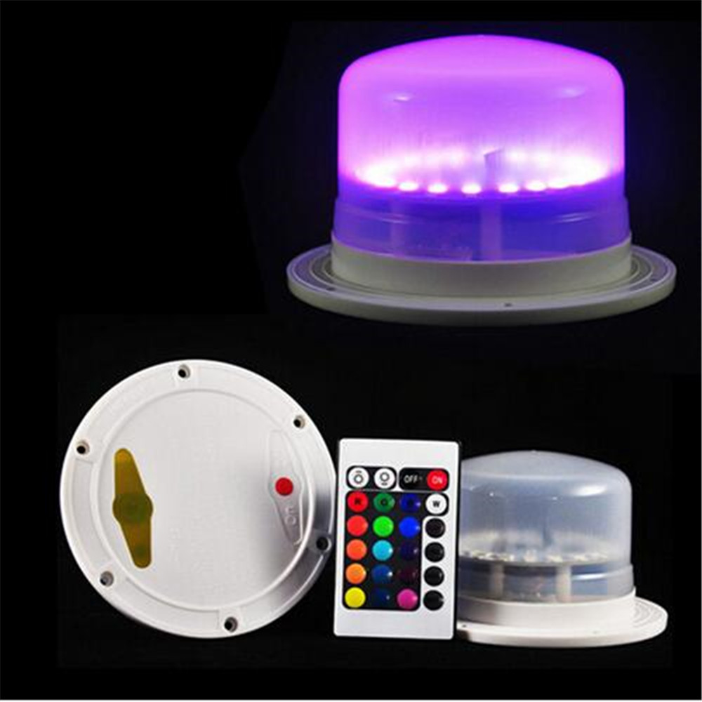 Waterproof LED Decorative Table Lamps Wedding Party Decoration Under Table LED Furniture Lighitng with Rechargeable Battery