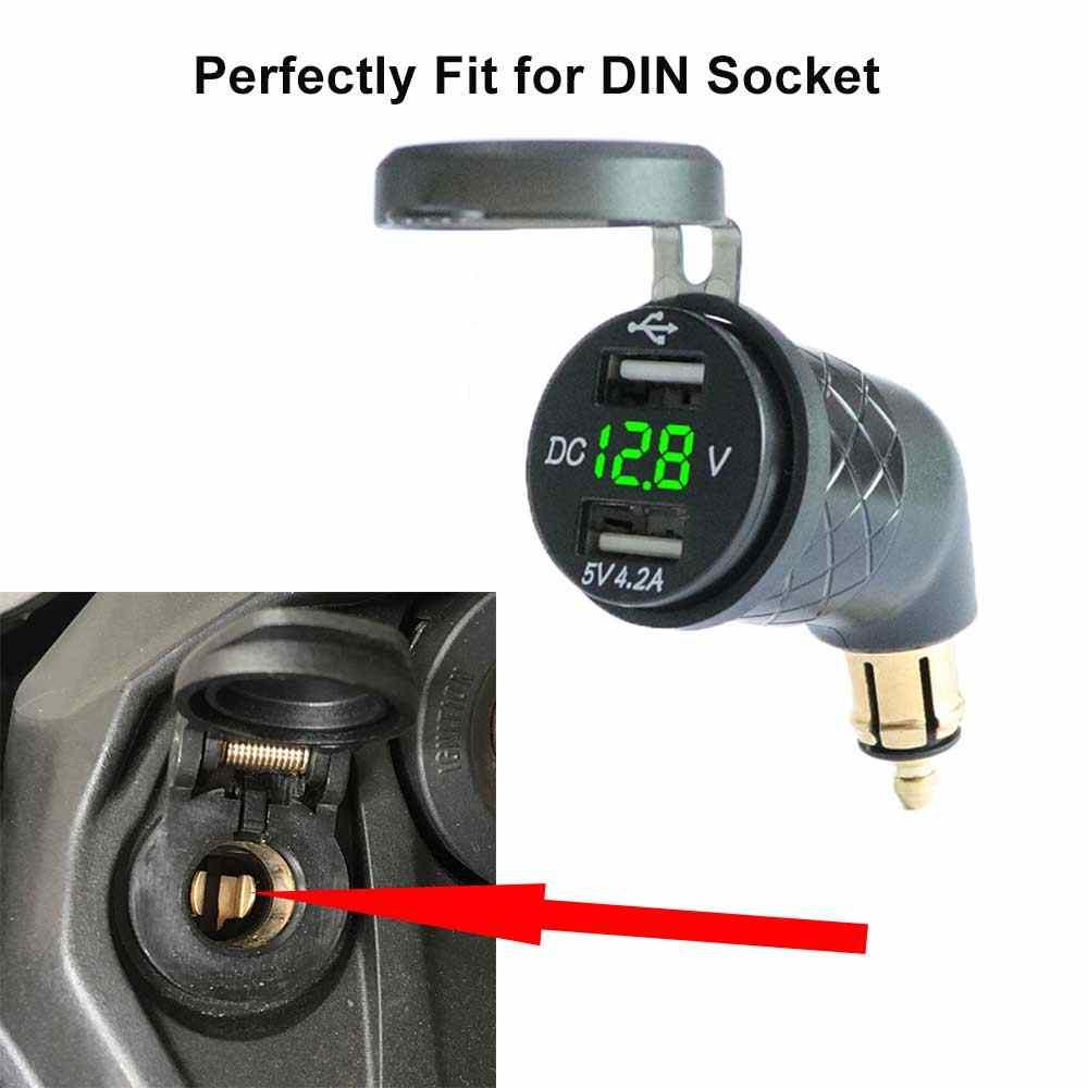 דין כדי USB מתאם נייד בזווית אופנוע דין שקע תקע מטען עבור Hella טריומף טייגר 800 XC XRX/BMW r1200G לשקע חשמל
