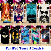Painted Protector Plastic Cover Case For Apple IPod Touch 6 Skin Back Cover Case For Ipod