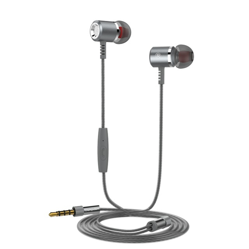 Langsdom Wired In-Ear Earphone Super Bass Metal Earphones with Microphone Stereo Earbuds for Phones PC MP3 MP4