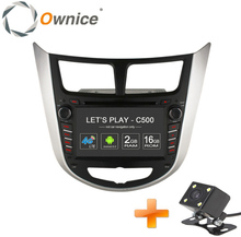 Ownice C500 4 Core Android 6.0 2 din CAR DVD player for Hyundai Solaris accent Verna i25 with GPS BT radio wifi 4G LTE Network