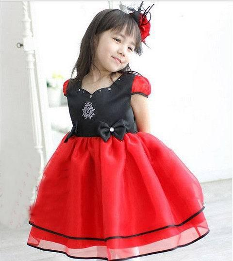 cafa167c7 Happy girl . love red dress beauty baby dress red color girls dress ...
