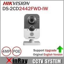 Hikvision DS-2CD2442FWD-IW 4MP POE Cámara IP Wifi con buit-en Micro ranura para tarjetas SD Cubo PIR Cámara de Seguridad CCTV