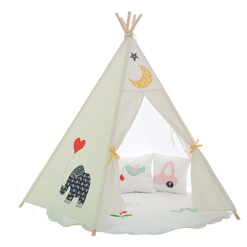 Extreem Teepee Kids DIY Play Children Play House Toy Tent Indian Teepee  PA56