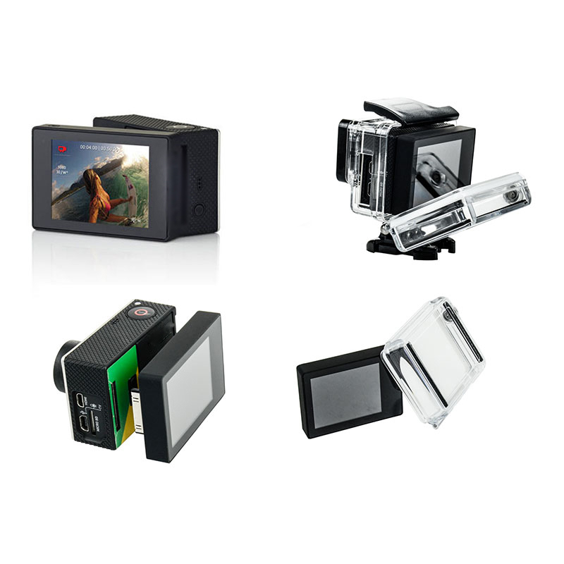 LCD BacPac Display Screen LCD Version Waterproof Protective Housing Case BacPac Backdoor Cover For Gopro Hero
