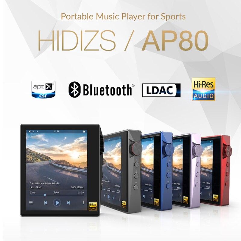 Hidizs AP80 Salut-Res ES9218P Bluetooth HIFI Musique MP3 Lecteur TAAC USB DAC DSD 64/128 FM Radio HibyLink FALC DAP