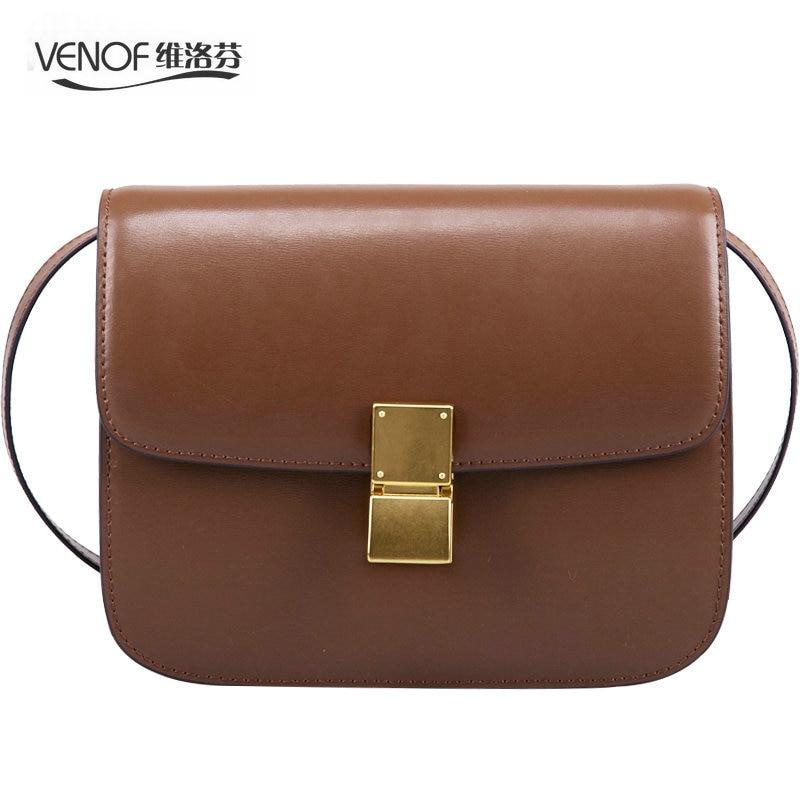 VENOF Fashion split leather Women Shoulder bag simple female crossbody Bags terse ladies Messenger bags brand mochilas mujer