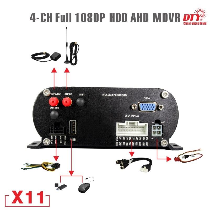 New arrived. X11 4G GSM 1080p mobile dvr, GPS CCTV DVR