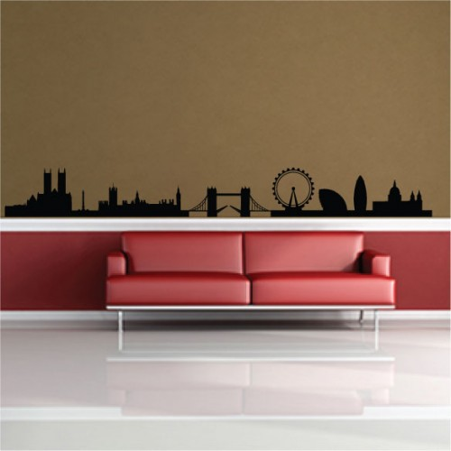 London UK Skyline Famous Landmarks Removable Wall Decor Decal Sticker Fashion Free Shipping