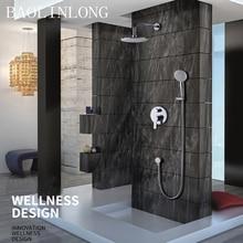 BAOLINLONG латунь в стене Ванная комната Ванна смесительная Ванна Душ Форсунка головки и ручная насадка для душа