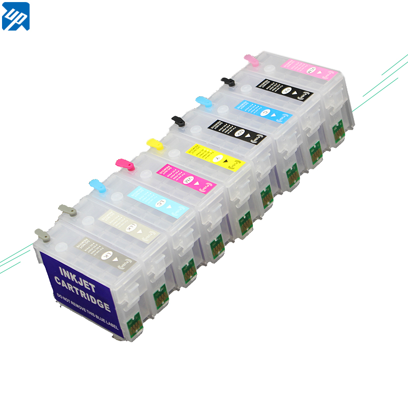 5sets for Epson P600 surecolor P600 SC P600 refillable ink cartridges with auto reset chips T7601