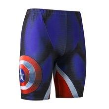 Captain america 3d-принтер пляж совета шорты мужские лето бегуном плюс сжатия мужчина шорты тощий бодибилдинг фитнес шорты