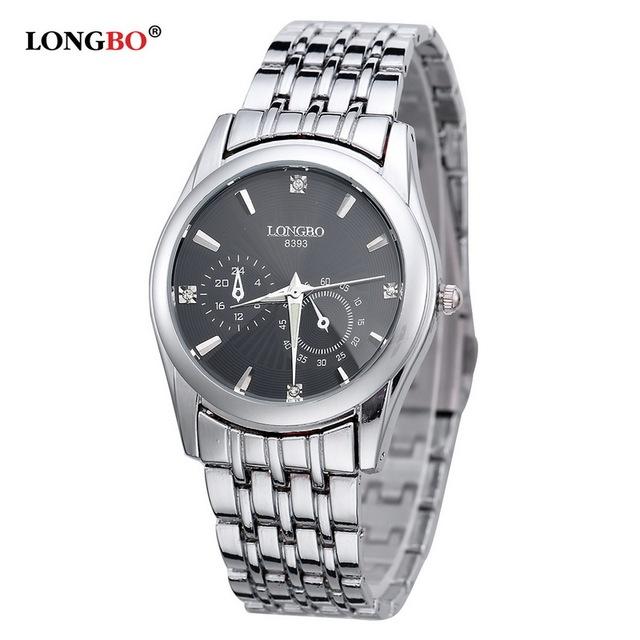 Amantes relógios de pulso famosa marca longbo relógio das mulheres de luxo relógios de negócios homens moda casual de quartzo-relógio reloj hombre 8393