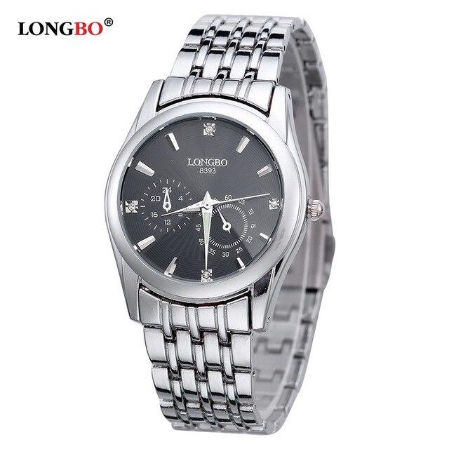 Lovers Wristwatches Famous Brand LONGBO Watch Women Luxury Business Watches men Fashion Casual Quartz-watch reloj hombre 8393
