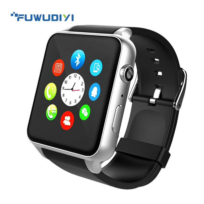 FUWUDIYI Heart Rate Monitor Bluetooth waterproof Smart watch Anti-lost Smartwatch Support SIM Card For Android pk apple watch ds18 waterproof smart baby watch gps tracker for kids 2016 wifi sos anti lost location finder smartwatch for ios android pk q50